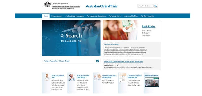 Clinical TRials web